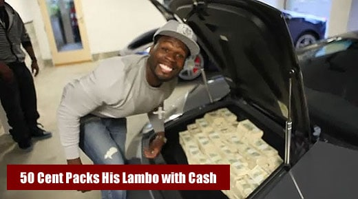 50 Cent counts 2 million Dollars CASH