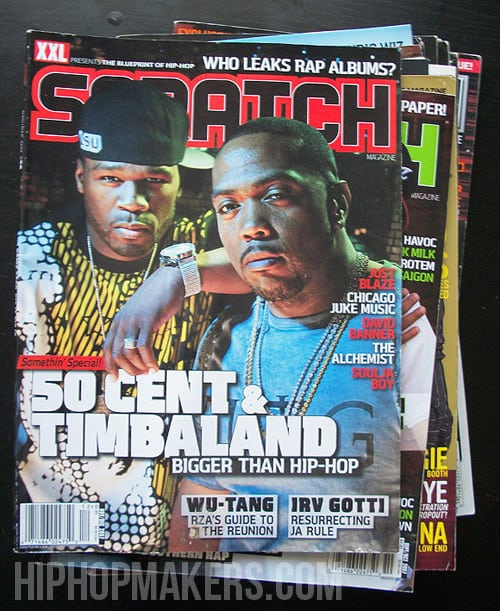 50 Cent & Timbaland Scratch Magazine