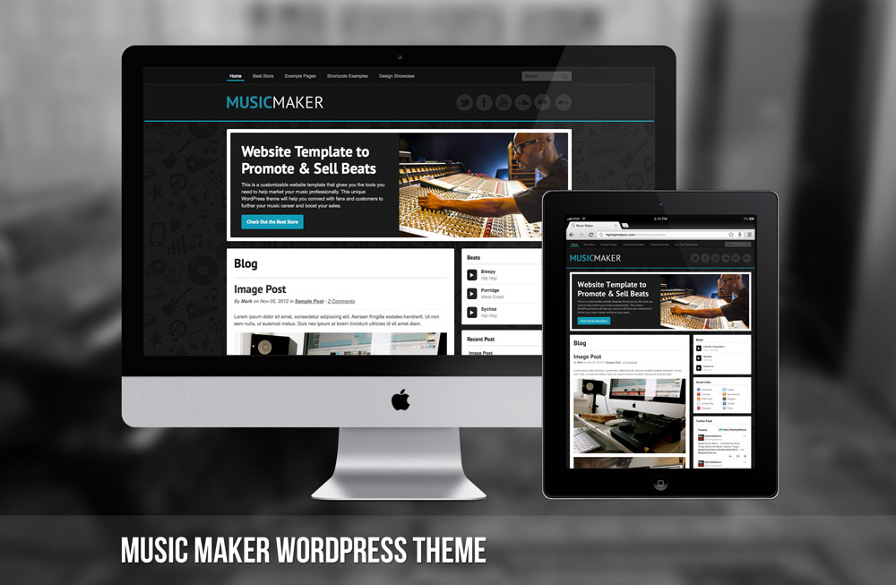 Music Maker WordPress Theme