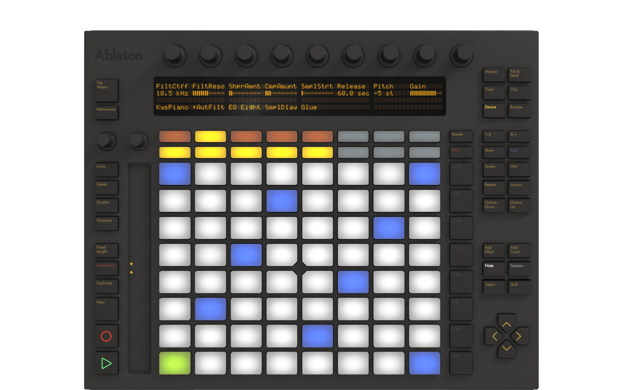 making beats with ableton push. Black Bedroom Furniture Sets. Home Design Ideas