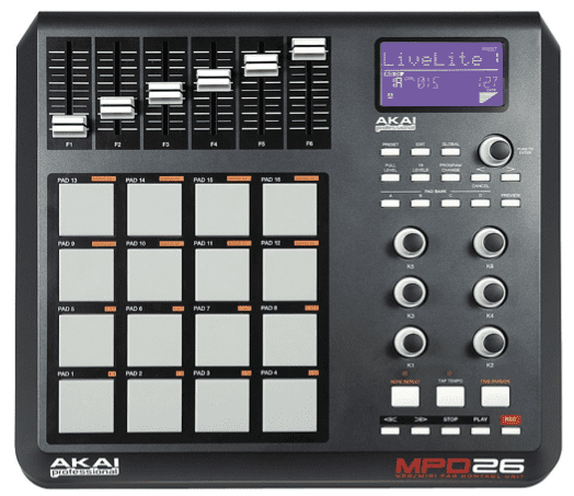 how to use akai professional mpd26