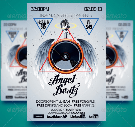 Angel Beatz Party Flyer