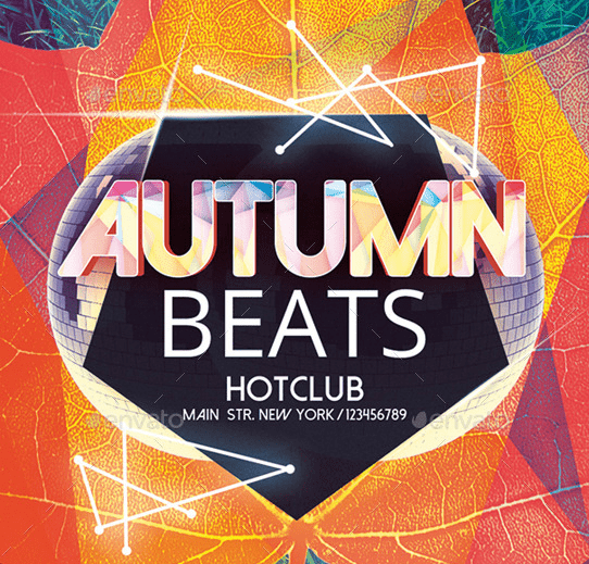Autumn Beats Flyer Template