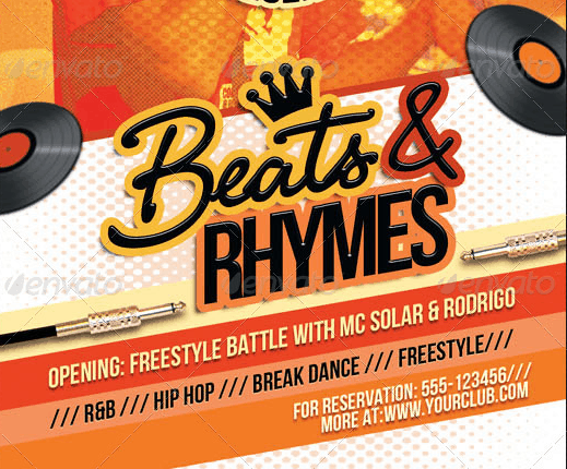 Beats And Rhymes Party Flyer