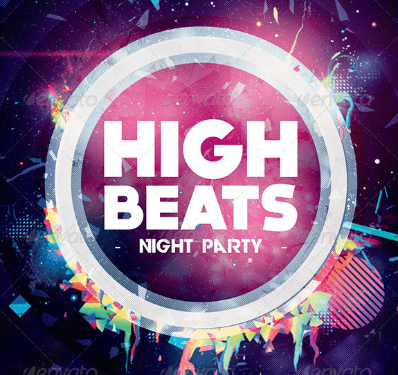 High Beats Flyer Template