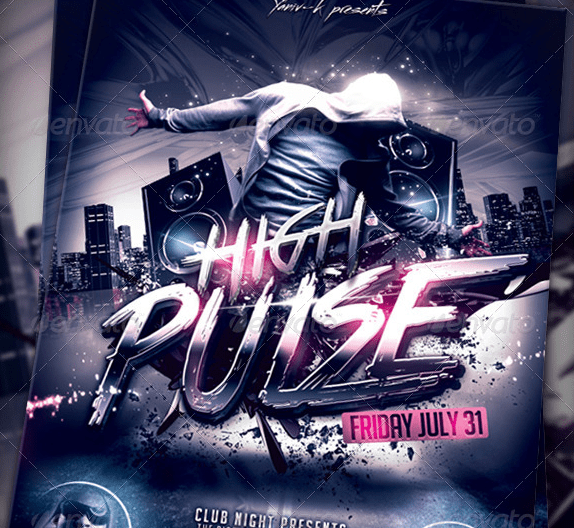 High Pulse Flyer Template