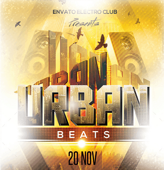 Urban Beats Party Flyer