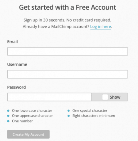 Create MailChimp Account - How to Offer a Free Beat to Email Subscribers