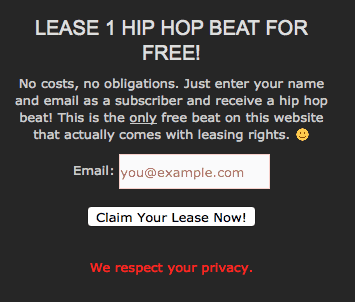Free Beat Download to Email Subscribers with MailChimp