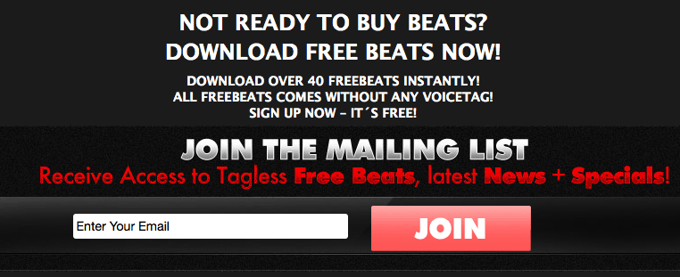 How to Offer a Free Beat to Email Subscribers (Email Marketing)