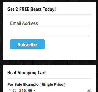 Music Maker Theme Email Box