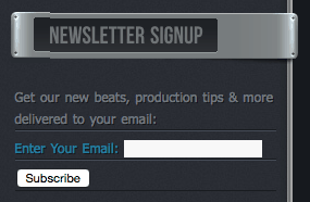 Email Newsletter Signup Example