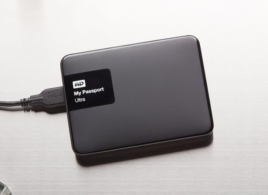 WD My Passport Ultra 2 TB Portable External Hard Drive, Black