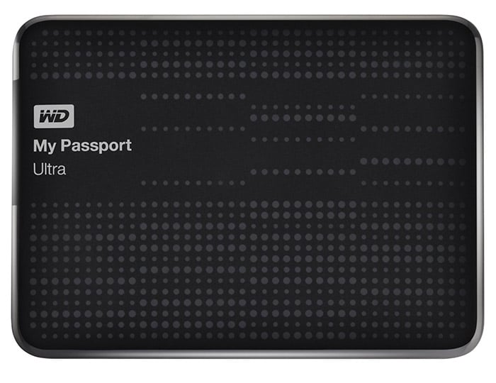WD My Passport Ultra Portable External USB 3.0 Hard Drive, 1TB, Black