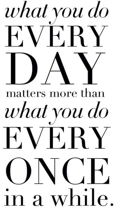 What you do every day.