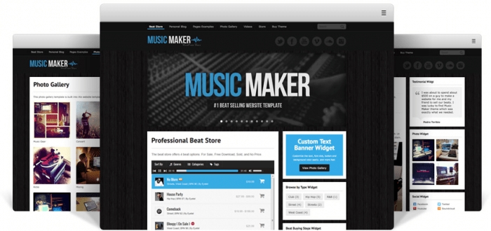 Music Maker WordPress Theme - Sell Beats Online