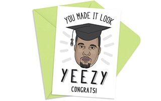 Kanye West Congratulations Card