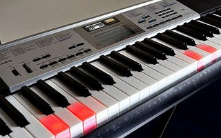 Lighted Keyboard with LCD Display