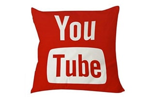 Youtube Icon Social Media Pillow Case