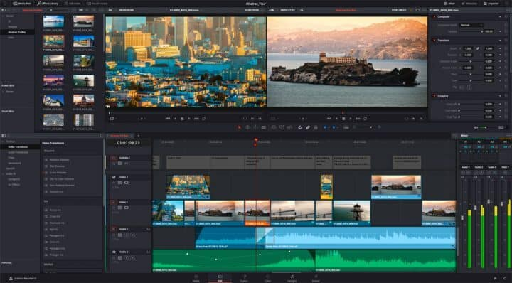 DaVinci Resolve Free Video Editing Software Programs
