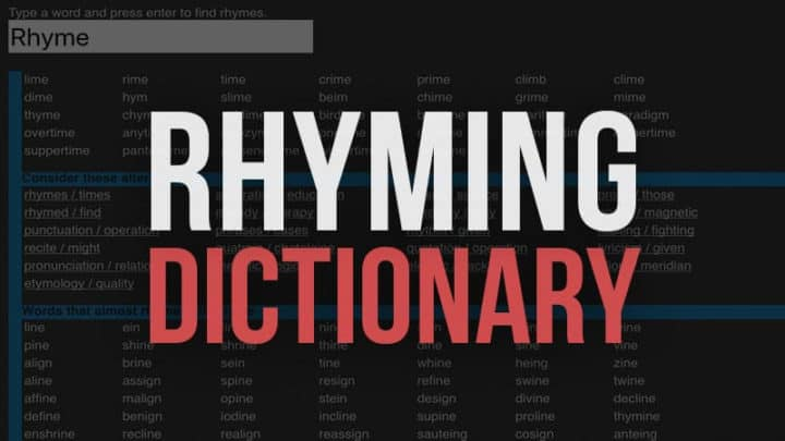 Free Rhyming Dictionary Websites to Help Write Music