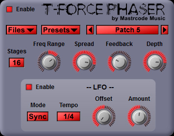 Mastrcode Music T-Force Phaser