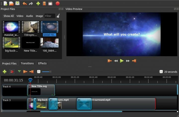 OpenShot Free Video Editing Software Program