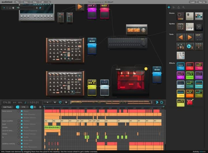 Audiotool - Best Free Online Sequencers to Make Music