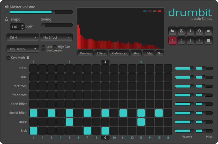 Drumbit - Best Free Online Sequencers