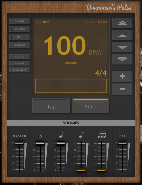 Drummers Pulse - Best Free Drum Metronome