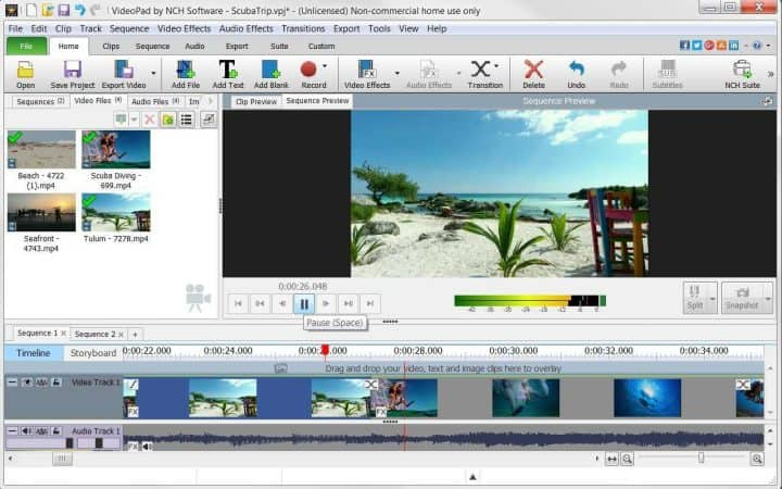 VideoPad Video Editing Software