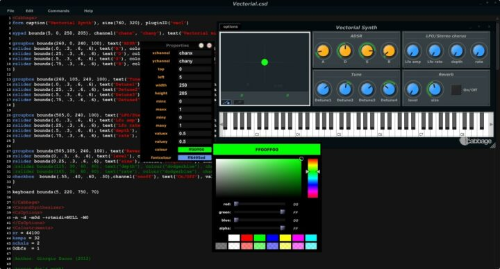 Cabbage - Free VST Host Applications