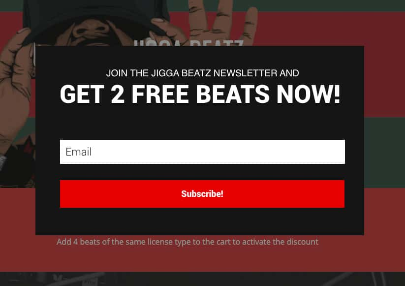 Email Marketing Tips - Offer Free Beats