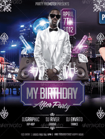 My Birthday After Party Flyer Template