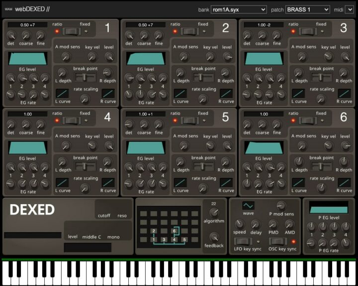 DEXED Online Synthesizer