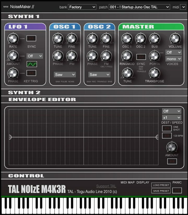 TAL-NoiseMaker - Free Online Synthesizers
