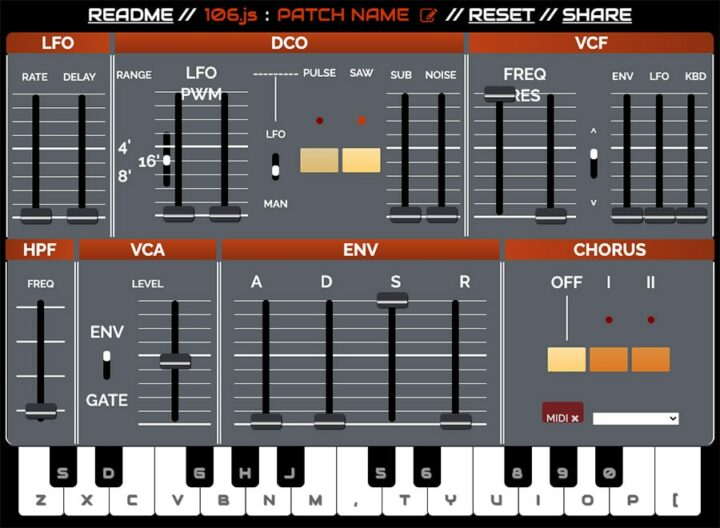 Juno 106 Online Synth