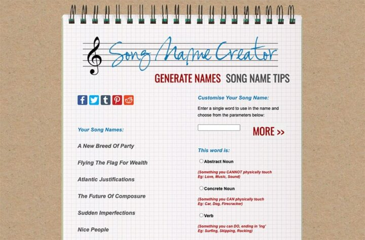The Song Name Creator