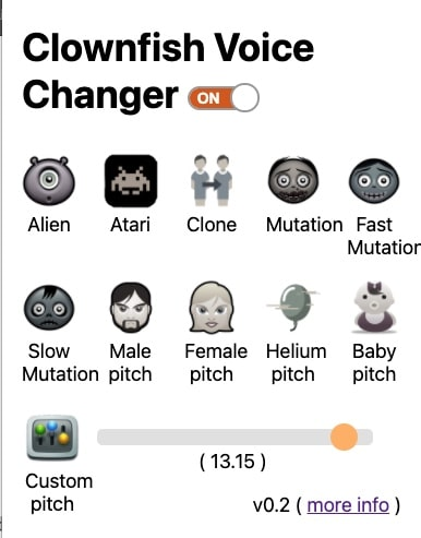 Clownfish Voice Changer for Chrome