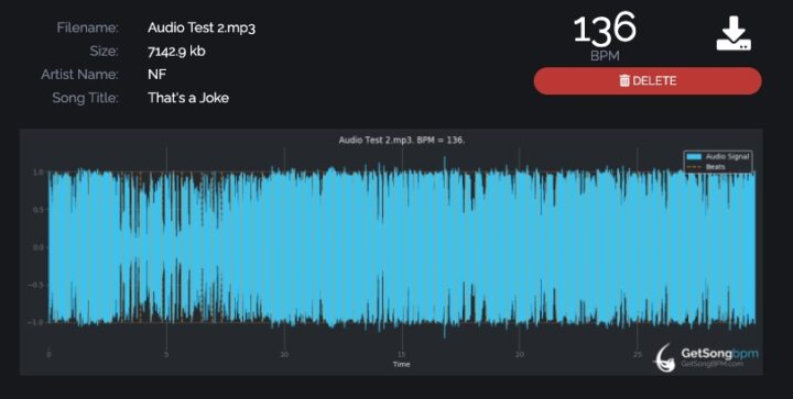 MP3 to BPM ( Song Analyser )