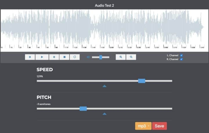 Music Speed Changer & Audio Pitch Shifter Online